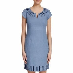 Boden Blue Sorrento Linen Dress WH455